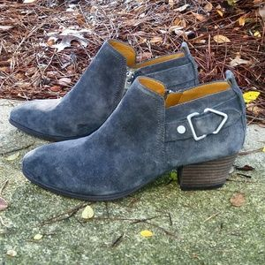 💎NWOB SARTO Franco Sarto Gray/Blue Suede Boots